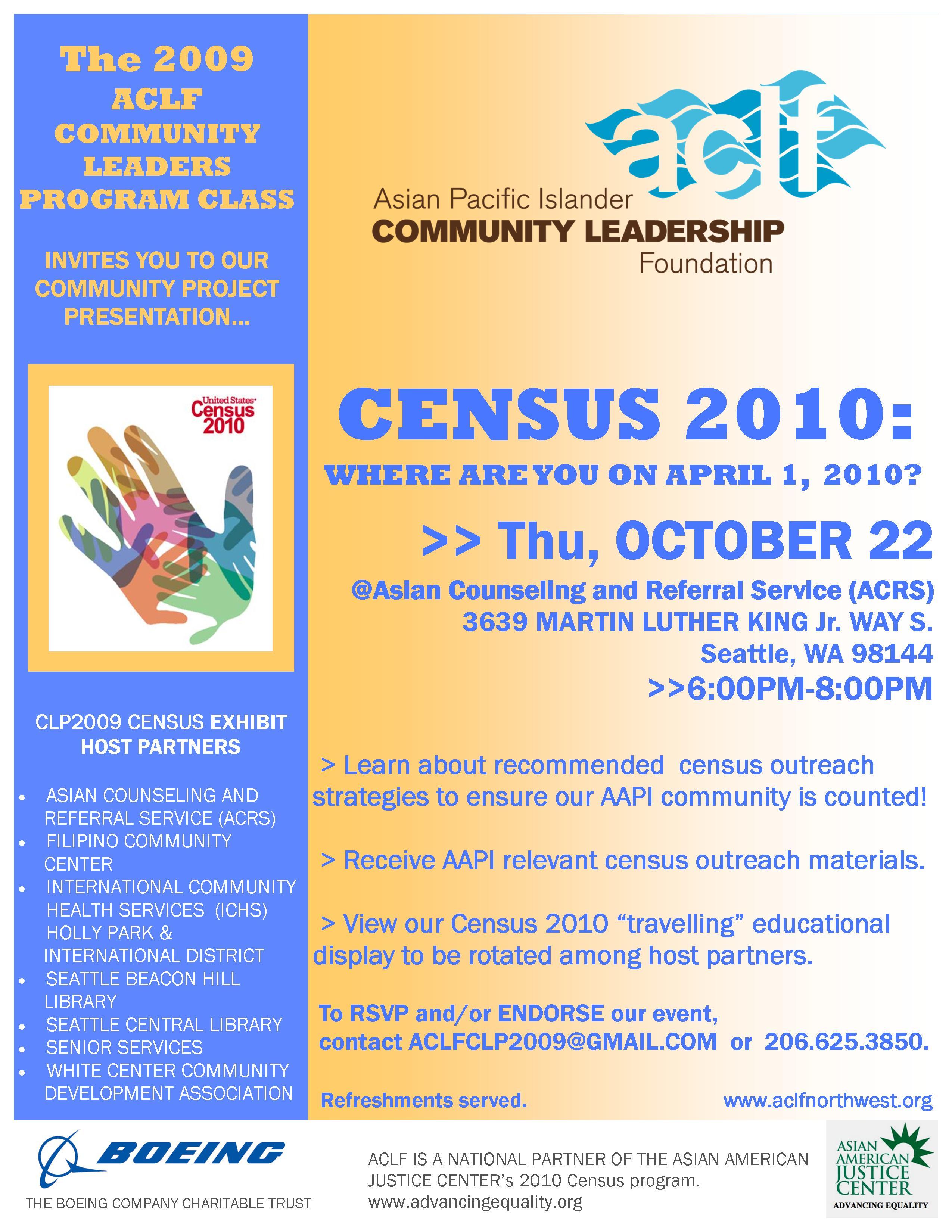 102209 aclf census presentation flyer